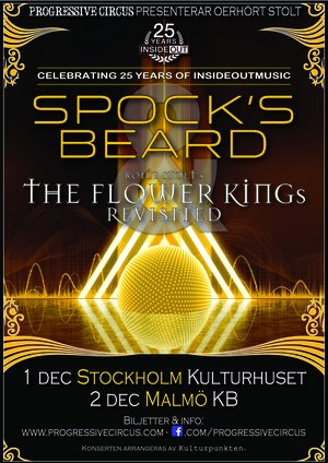 Ticket SPOCK'S BEARD & ROINE STOLT'S THE FLOWER KINGs REVISITED @ Kulturhuset (Studion), Stockholm, Dec 1st 2018